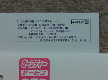 エコポイント交換商品の内容.JPG