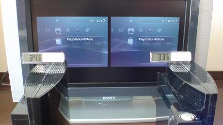 初期型PS3の冷却効果を比較!2.起動後の温度を比較③.JPG