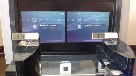 初期型PS3の冷却効果を比較!2.起動後の温度を比較⑦.JPG