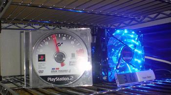 PS3 60GB 冷却装置 温度測定 デジタル温度計 by 100円ショップ②.JPG
