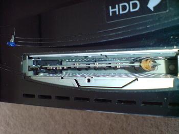 PS3 60GB SSD換装 14 SSD取り付け後の様子.JPG