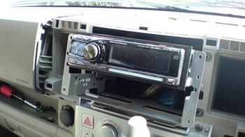iPod用車載ホルダーを再製作 オーディオ取り付けキットからの取り外し⑤.JPG